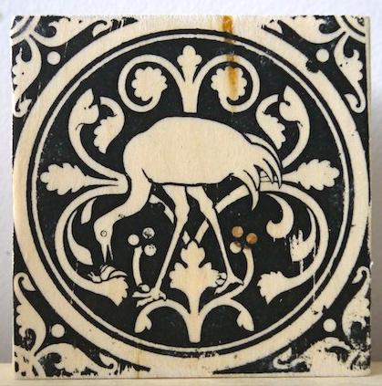 flamingo, wading birds, sainte chapelle, paris france, medieval tiles, religious iconography, circles and geometric designs, inlaid inlay floor tiles
