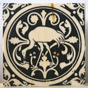 flamingo, wading birds, sainte chapelle, paris france, medieval tiles, religious iconography, circles and geometric designs, inlaid inlay floor tiles