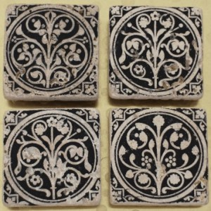 medieval flowers, tile magnet set, sainte chapelle, paris france, medieval tiles, religious iconography, circles and geometric designs, inlaid inlay floor tiles