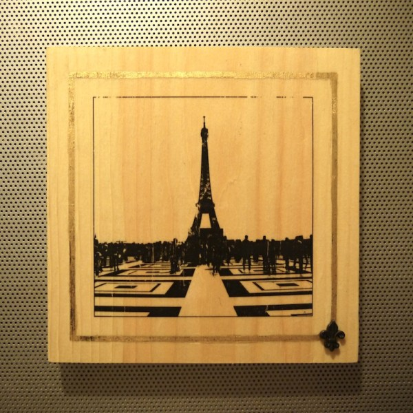 View from the Palais de Chaillot wood panel print photo, statuary, beautiful, beauty, architecture, details, photography, photographer, toronto, artist, dust, on, my, boots, tree, decorate, decorative, wedding, gift, wedding gift, desk, art, desk art, home, decor, home decor, shelf, print, shelf print, desk adornment, photographic prints,