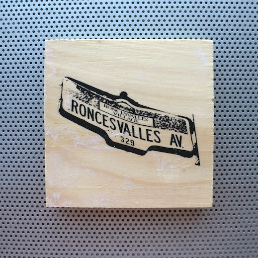roncesvalles, ronce, roncy, roncey, hipster, roncesvalles avenue, fashion pins, wood brooch, pinback accessories, toronto street signs, handmade art pin, etsy seller, wood coin pins, toronto the good,