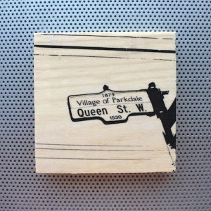 queen street west, west queen west, parkdale, queen street, fashion decor, wood block, rustic decor, toronto street signs, handmade art pin, etsy seller, wood coin pins, toronto the good,