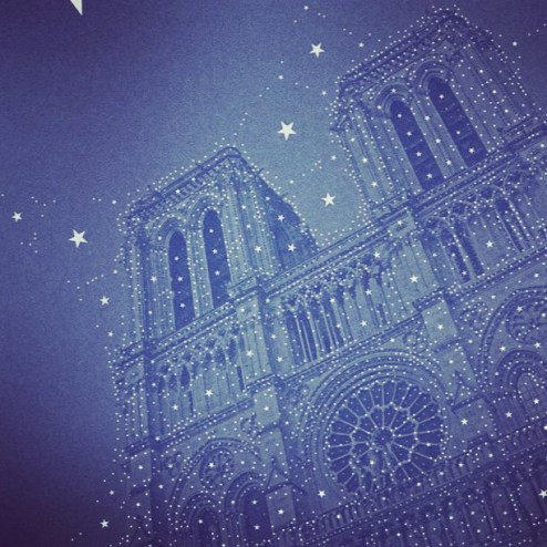 Starry Night on Notre Dame by Percolator app
