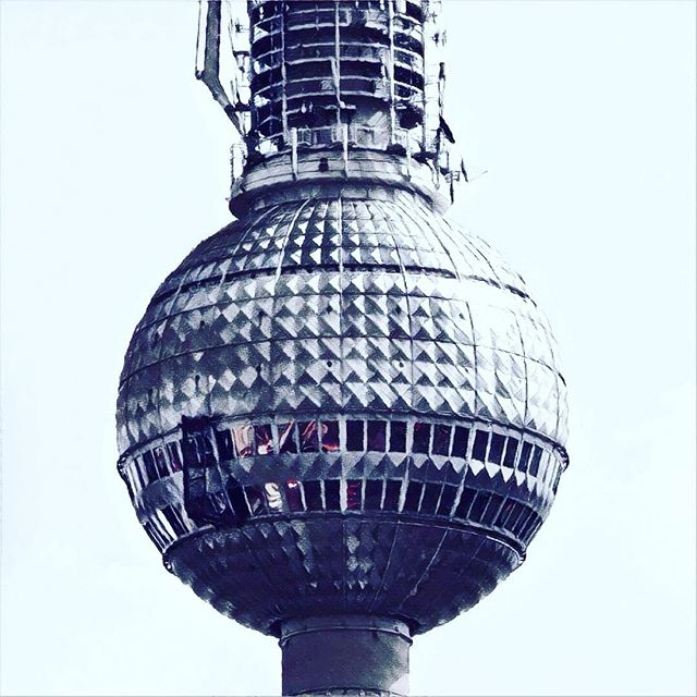 The windows of Berlin's Fernsehturm up close