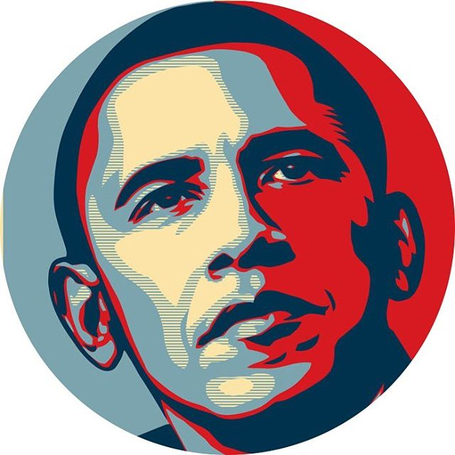 The Shepard Fairey poster of Obama from his 2008 campaign.