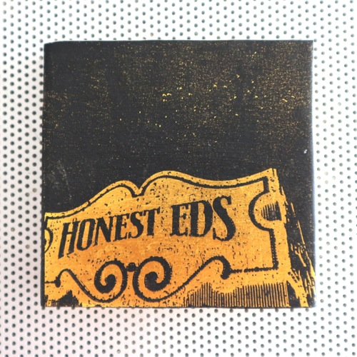 honest ed mirvish, honest ed sign, neon sign, toronto landmark, fashion pins, wood brooch, pinback accessories, toronto street signs, handmade art pin, etsy seller, wood photo art, toronto the good,