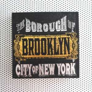 brooklyn new york, brooklyn ny, nyc, new york city, vintage signage, borough of brooklyn, city of new york, brooklyn bridge, gold and silver, black foil, 19th century
