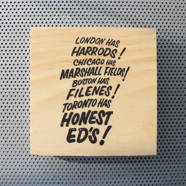 honest ed mirvish, honest ed sign, neon sign, toronto landmark, fashion pins, wood brooch, pinback accessories, toronto street signs, handmade art pin, etsy seller, wood photo art, toronto the good,