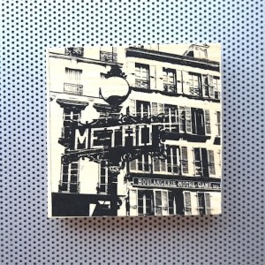 paris metro sign, parisian bakery sign, boulangerie parisienne, paris street scenes, paris france artwork, street scenes paris