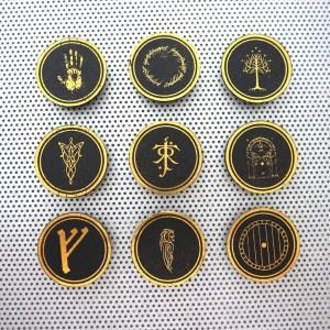 lord of the rings, nerd gifts, gift ideas for men, husband presents, one ring aragorn, fridge magnet set, lotr home decor, arwen legolas elves elvish, tree of gondor