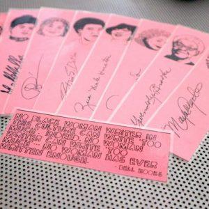 Black women writers bookmarks / set of nine handmade African American portraits poets feminist activists book mark black on pink