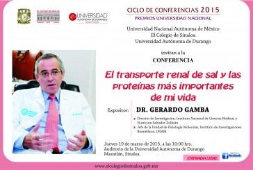 Gerardo Gamba dictara Conferencia