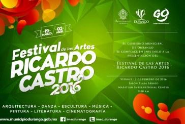 Durango presenta el  Festival Ricardo Castro 2016