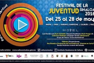 Grandes artistas estarán en Mazatlán, dentro  del Festival de la Juventud Sinaloa 2016