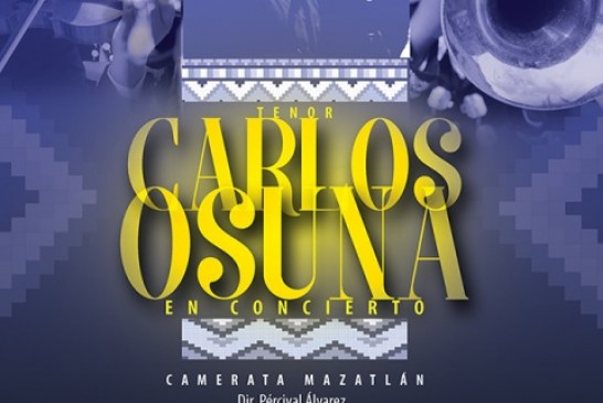 El tenor mazatleco Carlos Osuna en concierto