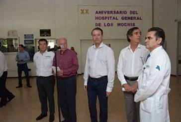 Quirino Ordaz y Álvaro Ruelas supervisan construcción en Los Mochis