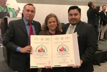 """<center>A Sinaloa Distintivo: """"Empresa Incluyente Gilberto Rincón Gallardo 2017""""</center>"""