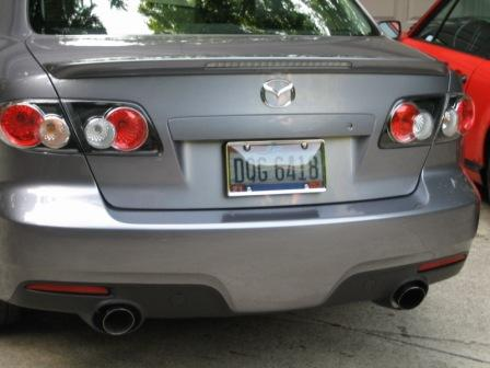 fake exhaust tips on the ms6