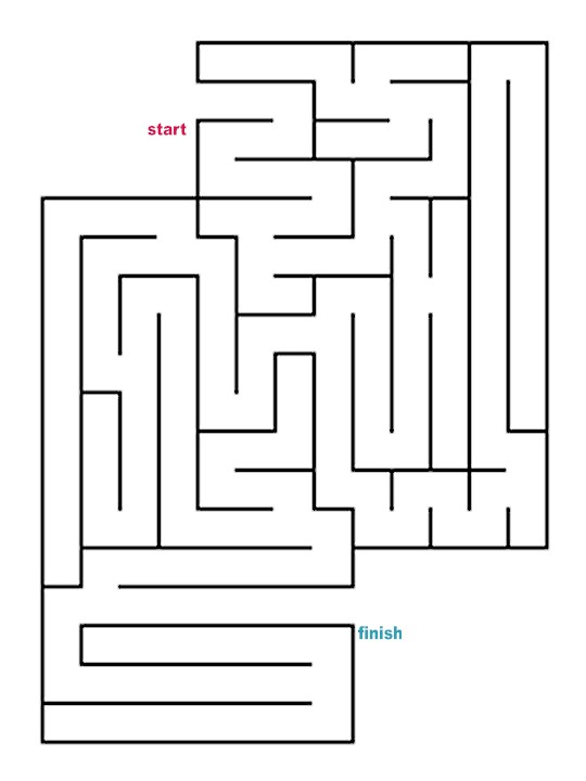 how to draw easy mazes colouring pages