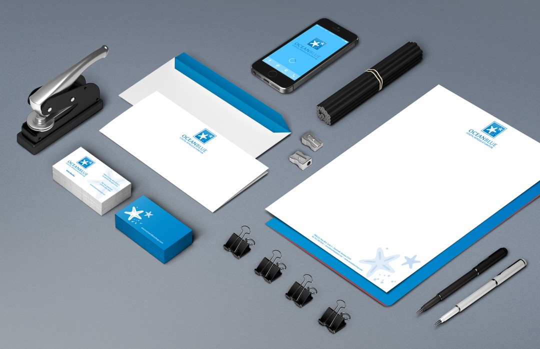 Ocean Blue Stationery