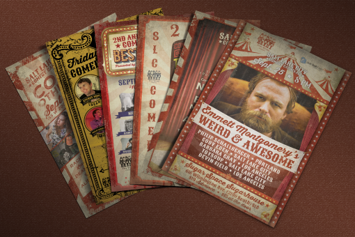 Salt Lake City Comedy Carnivale Flyers