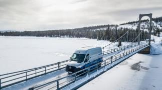 Wintererprobung Mercedes-Benz eSprinter in Schweden