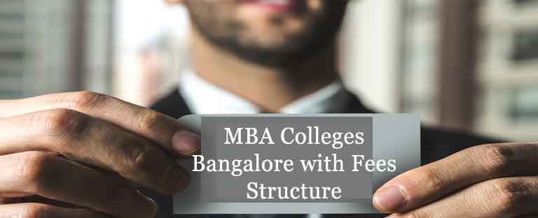 MBA/PGDM Colleges Bangalore Fees Structure
