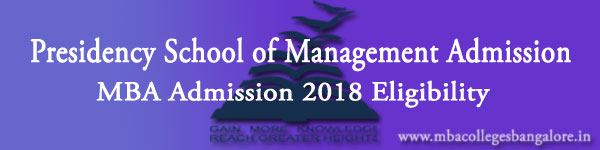 Presidency Admission 2018 Eligibility