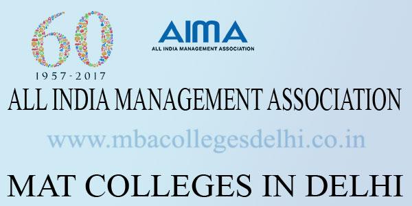 MBA Colleges Delhi accepting MAT score