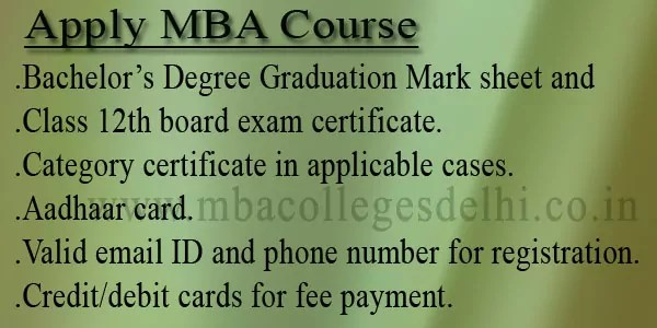 Apply MBA Admission Documents Required