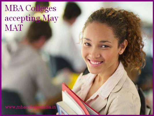 MBA Colleges accepting May MAT score