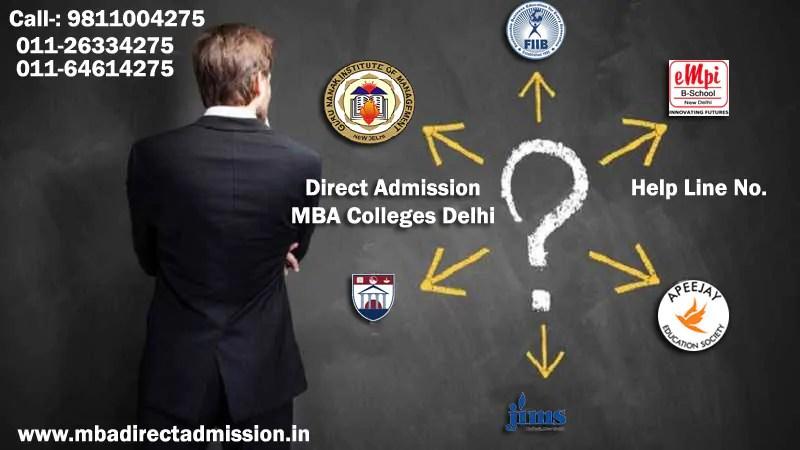 Direct Admission Top Delhi B School, Colleges, University