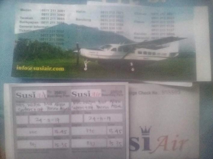 Harga tiket Susi Air di Provinsi Aceh
