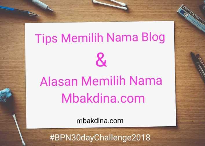 Tips memilih nama blog