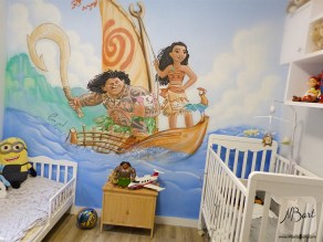 ציורי קיר לחדרי לילדים