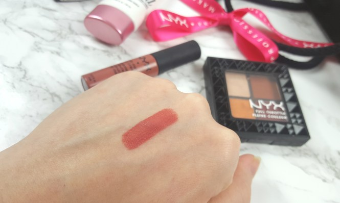NYX Soft Matte Lipcream Cannes Swatch