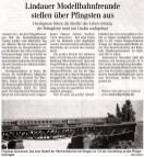 Zeitungsbericht Modellbahnausstellung Pfingsten 2011