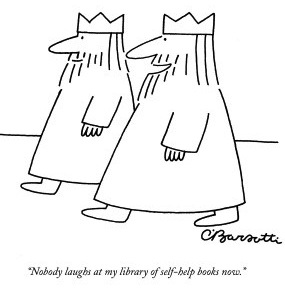 charles-barsotti-nobody-laughs-at-my-library-of-self-help-books-now-new-yorker-cartoon