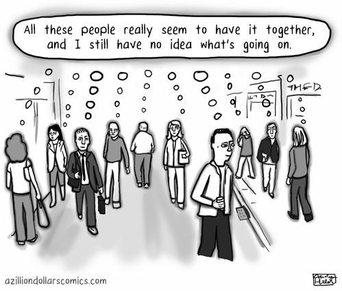 funny-people-thinking-same-walking-street