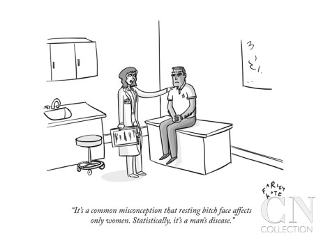 farley-katz-it-s-a-common-misconception-that-resting-bitch-face-affects-only-women-s-new-yorker-cartoon