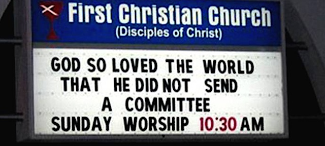 Churches Dying for a Laugh
