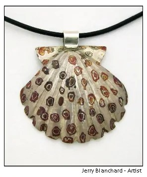 Mokume gane shell - Artist: Jerry Blanchard