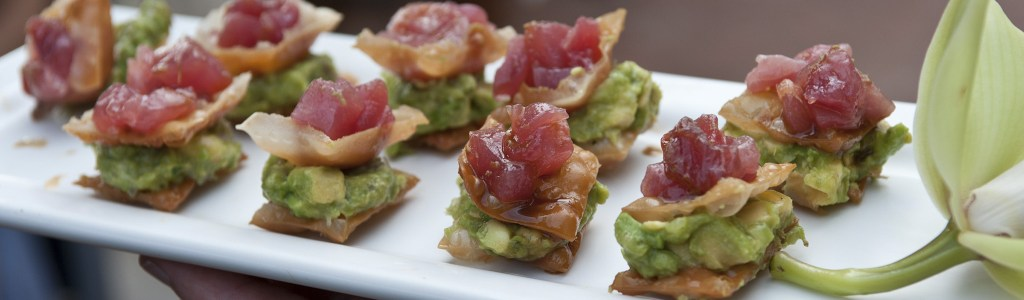 Tuna and Avocado Crostini   Catered by Made By Meg