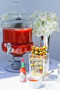 Bloody Mary Station | Catered by Made By Meg