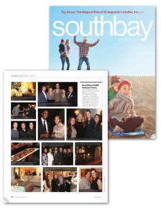 Meg Hall in Southbay Magazine, December 2013 (cover)