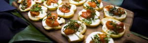 Roasted Tomato Crostini | Made By Meg - Los Angeles and Orange County Caterer