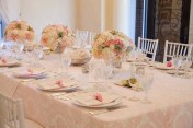 Baptism table setting