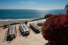 Outdoor Oceanview Wedding Table
