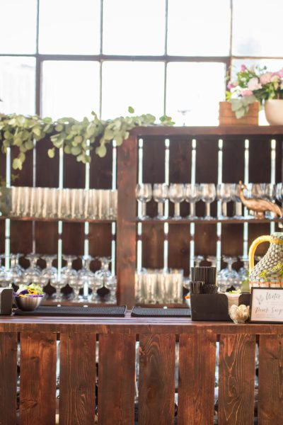Wedding Bar Station at the Hudson Loft | The Knot Event