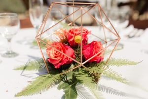 Catalina View Gardens Wedding Reception Centerpiece